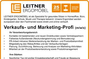 Stelleninserat Verkaufs-Marketing-Profi