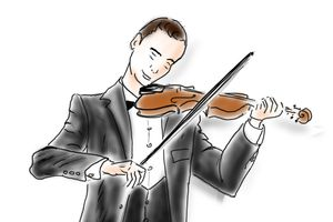 Violinist - Illustration and Arts by Johanna Leitner