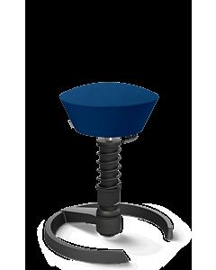 3D-Aktivstuhl Swopper von Aeris - Gestell schwarz, Wolle SELECT blau, Ausführung HIGH