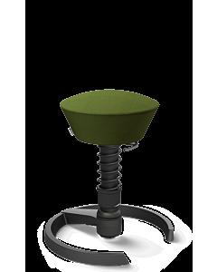 3D-Aktivstuhl Swopper von Aeris - Gestell schwarz, Wolle Select grün, Ausführung schwarz