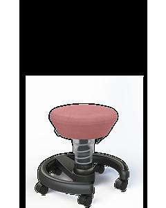 Aktivhocker Swoppster von Aeris für, Basis hellgrau-metallic, Sitzbezug pink