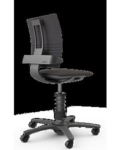 Bürodrehstuhl 3Dee von aeris - NEUE EDITION 2020, CAPTURE Wollmischung schwarz-meliert