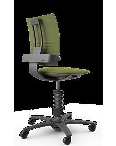 Bürodrehstuhl 3Dee von aeris - NEUE EDITION 2020, CAPTURE Wollmischung grün-meliert