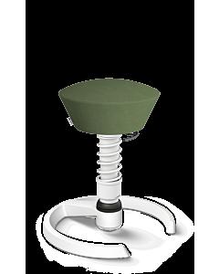 Beweglicher Aktivstuhl swopper von aeris, Mikrofasfer grün, weiße Feder - NEUE EDITION 2020