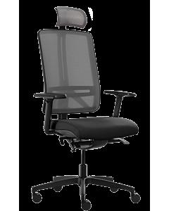 Bürodrehstuhl FLEXI von RIM mit Netzrücken und Kopfstütze
