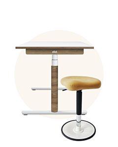DreamTeam Home Set:  Schreibtisch Eliot + Stehhilfe LeitnerWipp