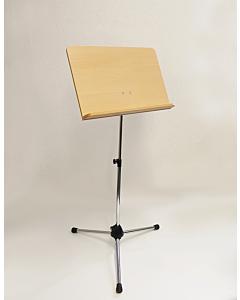 K&M Orchesternotenpult Topline 11819 mit Buche-Ablage und vernickeltem Stativ - 10 % Rabatt