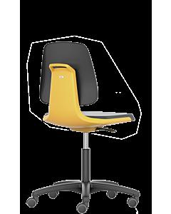 Bürodrehstuhl und Arbeitsdrehstuhl Labsit 2, Sitzschale orange