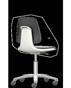 Labordrehstuhl und Arbeitsdrehstuhl Labsit 2, Sitzschale weiß