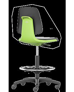 Labordrehstuhl und Arbeitsdrehstuhl Labsit 4, Sitzschale grün