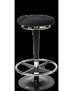 LeitnerBar PRO 3 - höhenverstellbarer Barhocker mit exklusivem Design, Mikrofaser schwarz