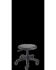 Kosmetiker-Hocker LeitnerCare 1, gepolstert mit Kunstleder schwarz