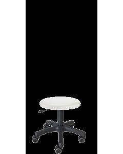 Rollhocker LeitnerCare 1 für Fußpfleger und KosmetikerInnen, Kunstleder weiß