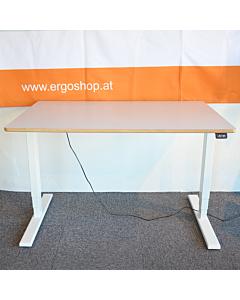 Höhenverstellbarer Schreibtisch LeitnerDesk Classic für Homeoffice und Kinderzimmer, Tischplatte 120x80 cm