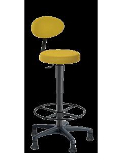 Spezial-Arbeitsstuhl LeitnerFan 3 mit Fußring und Gleitern für Theken oder Counter-Arbeitsplätze