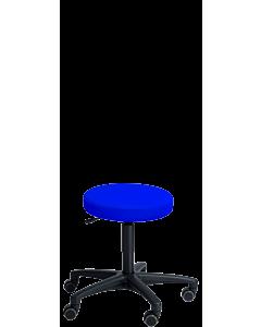 Therapeuten-Rollhocker LeitnerRoll Med mit PERI Kunstlederbezug blau