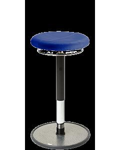 Bewegungshocker und Stehhilfe LeitnerSpin 2 PRO, Rundsitz gepolstert, Mikrofaser blau