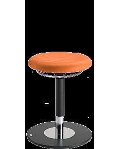 Bewegungshocker und Stehhilfe LeitnerSpin, Mikrofaser orange