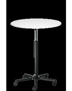 Stehtisch LeitnerTable mit Rollen und weißer Tischplatte