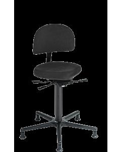 LeitnerVario 2 (Sitzhöhe 47 - 65 cm) - Musikerstuhl mit Sattelsitzfläche und Gleitern