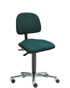 Bürodrehstuhl LeitnerVario 2, Ergositzfläche, Kingflex dunkelgrün