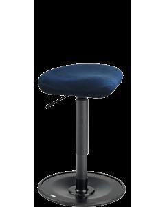Bewegungshocker LeitnerWipp 2, Sattelsitz, Bezug Mikrofaser Comfort Dunkelblau