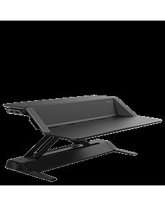 Lotus Sitz-Steh-Arbeitsplatz/Aufsatzpult von Fellowes schwarz