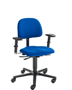 Bürodrehstuhl LeitnerVario 1, Stoffgruppe 1 Kingflex blau