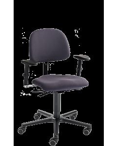 Lehrerdrehstuhl LeitnerVario 1 mit großer XXL-Sitzfläche und Armlehnen