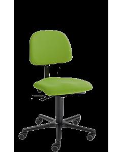 Bürodrehstuhl LeitnerVario 2, Ergositzfläche, Kingflex grün