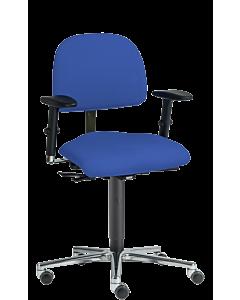 Bürodrehstuhl LeitnerVario 2 (Sitzhöhe 49 - 67 cm), Ergositzfläche, 3D Armlehnen