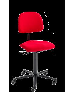 Bürodrehstuhl LeitnerVario 2 (Sitzhöhe 46 - 65 cm), Ergositzfläche, Stoffgruppe 1 Kingflex