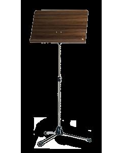 K & M Orchesternotenpult Topline 118/1, Platte Holz Nussbaum, Stativ vernickelt
