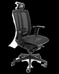 Bürodrehstuhl und Arbeitsdrehstuhl Ascoli mit Kopfstütze