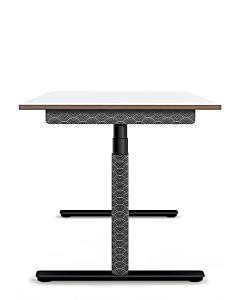 Elektrisch höhenverstellbarer Schreibtisch ELIOT, Designcover Japan Black, Tischplatte weiß, 140x70 cm