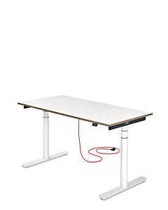 Elektrisch höhenverstellbarer Kinder-Schreibtisch ELIOT, Tischplatte weiß, 120x70 cm