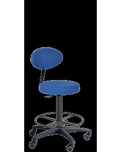 Drehstuhl LeitnerFan 2 mit Fußring für hohe Arbeitsschreibtische
