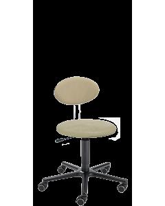 Arbeitshocker LeitnerTwist 1 mit runder Sitzfläche und Bezug COMFORT Mikrofaser sand