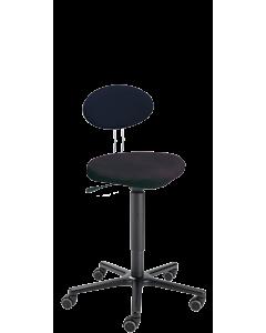 Arbeitsdrehhocker LeitnerTwist 2 mit Sattelsitz, COMFORT Mikrofaser schwarz