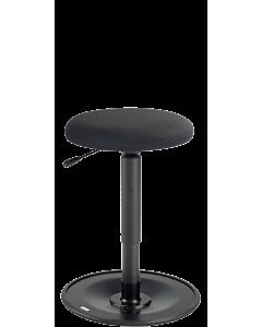 Musikerhocker LeitnerWipp 2 mit runder Sitzfläche, schwarz