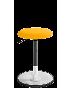 Bewegungshocker LeitnerWipp 2 mit weißer Sockelplatte und Rundsitz in der Trendfarbe 2021