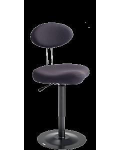 Spezial-Arbeitsstuhl LeitnerStabil 2 (Sitzhöhe 46 - 67 cm), Stoff Kingflex anthrazit