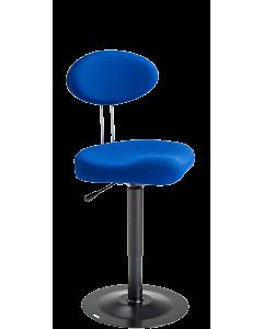 Schneiderinnenstuhl LeitnerStabil (Sitzhöhe  46 - 67 cm), Stoff Kingflex blau