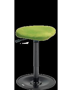Bewegungshocker LeitnerWipp 2 (Sitzhöhe 47 cm bis 65 cm), Sattelsitz, Metallsockel schwarz