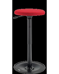 Stehhilfe LeitnerWipp 3 (Sitzhöhe 52 bis 77cm), Rundsitz, Metallsockel schwarz