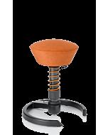 Bewegungshocker swopper von aeris, teracotta orange