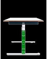 Elektrisch höhenverstellbarer Kinder-Schreibtisch ELIOT, Designcover Fußball, Tischplatte weiß, 120x70 cm