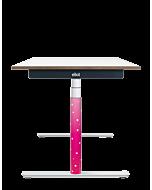 Elektrisch höhenverstellbarer Kinder-Schreibtisch ELIOT, Designcover Starlilly, Tischplatte weiß, 120x70 cm