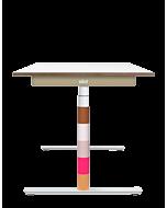 Elektrisch höhenverstellbarer Kinder-Schreibtisch ELIOT, Designcover Waffel, Tischplatte weiß, 120x70 cm