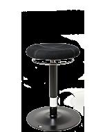 LeitnerBar PRO 2 - höhenverstellbarer Barhocker mit exklusivem Design, Mikrofaser schwarz
